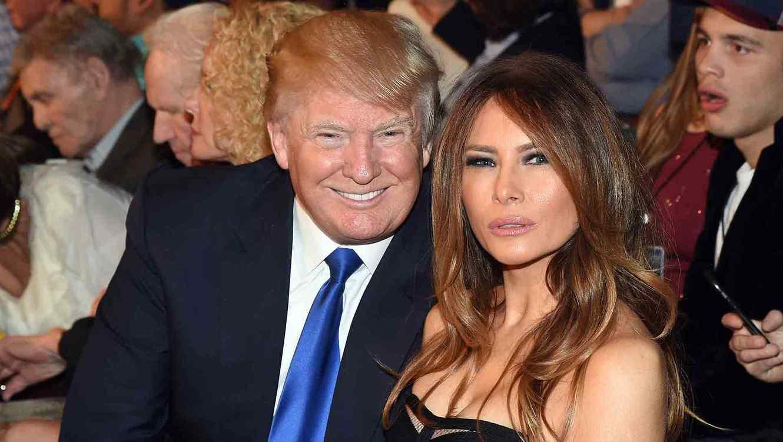 Donald Trump y Melania Trump en la pelea de Mayweather vs Pacquiao en Las Vegas 2015