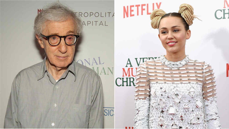 Woody Allen y Miley Cyrus