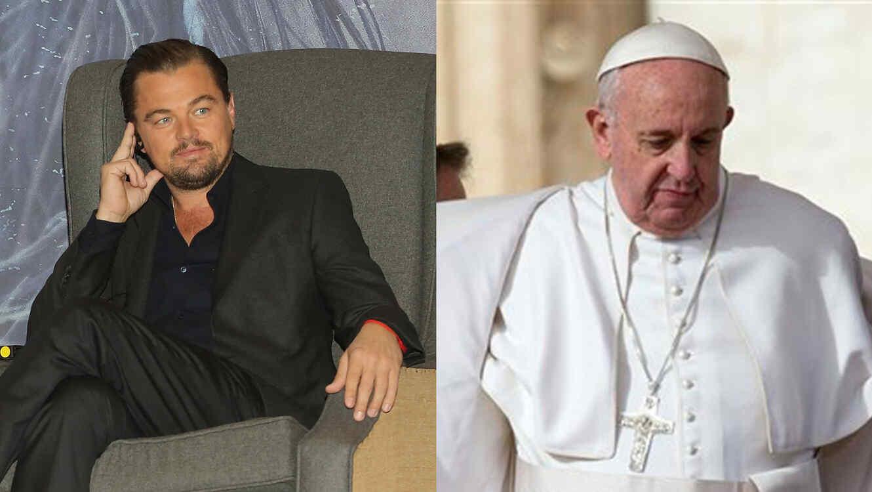 Leonardo Dicaprio y Pope Francisco