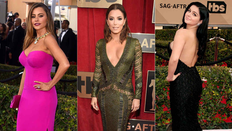 Sofía Vergara, Eva Longoria y Ariel Winter en la alfombra roja de SAG Awards 2016