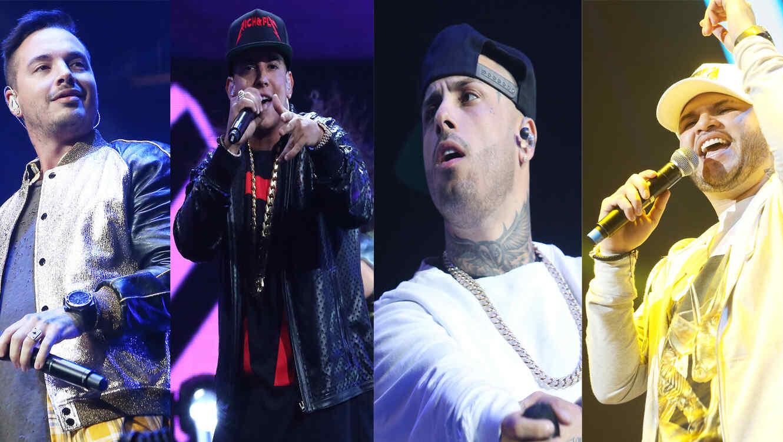J Balvin, Daddy Yankee, Nicky Jam y Farruko