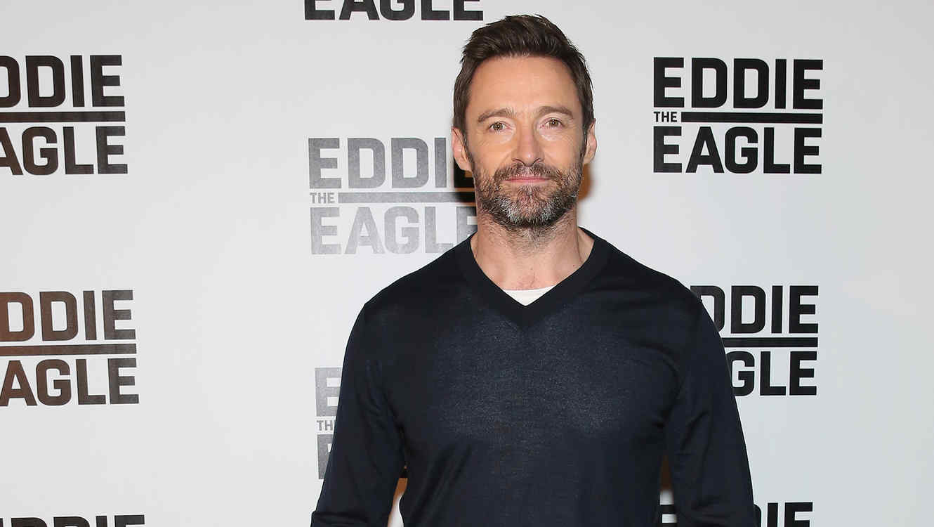 "Hugh Jackman en el screening de ""Eddie The Eagle""."