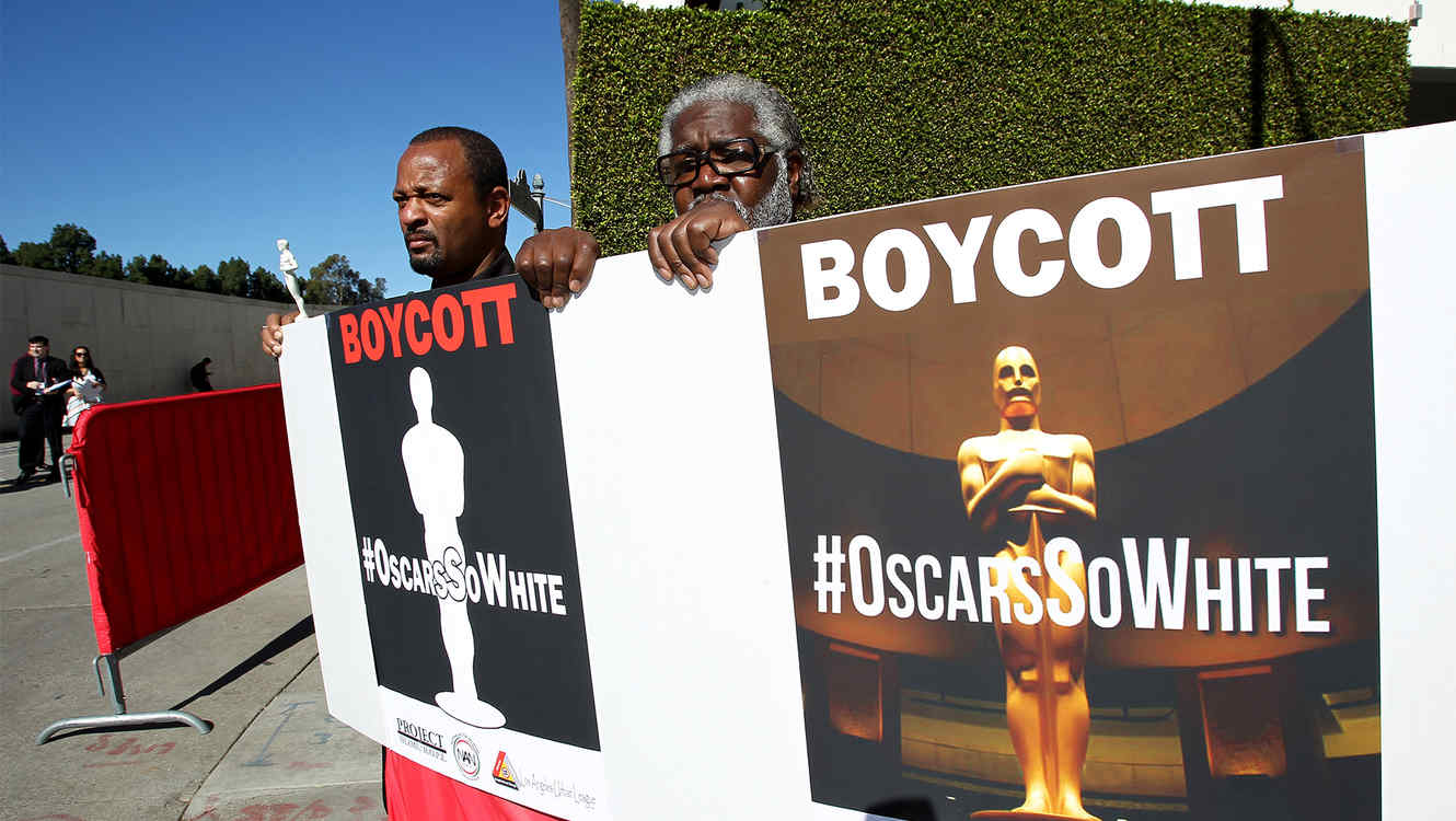 Project Islamic Hope Holds Rally Outside The Oscar Nominees Luncheon In Support Of The Oscars Boycott