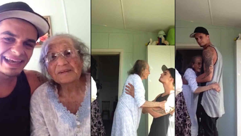 Video de joven que baila con su abuela se hace viral