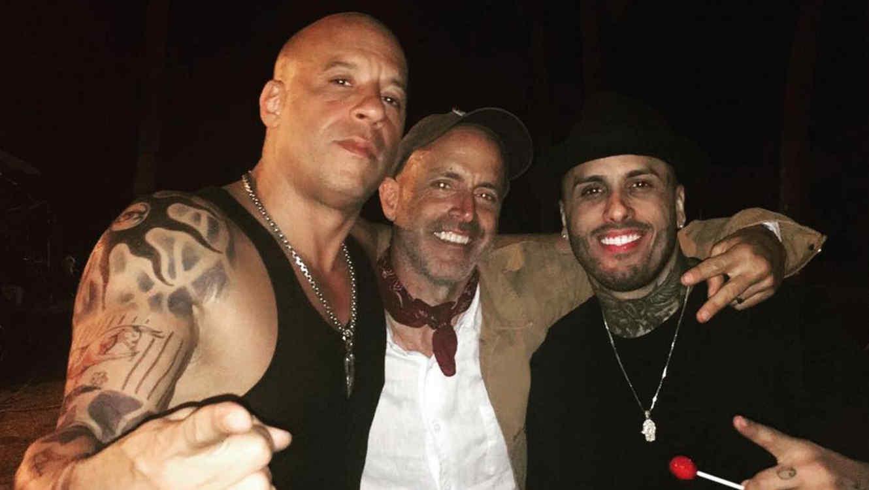 Nicky Jam y Vin Diesel disfrutan en medio de rodaje de película