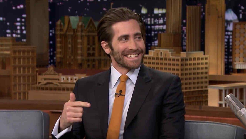 Jake Gyllenhaal en el programa de Jimmy Fallon.