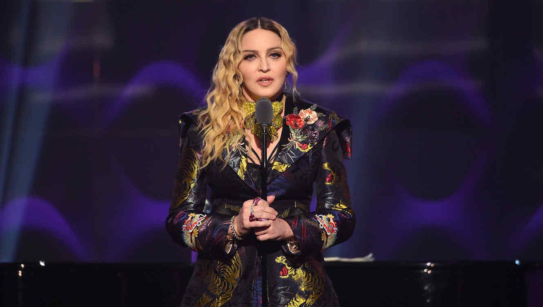 Madona en el evento Women in Music 2016 de Billboard.