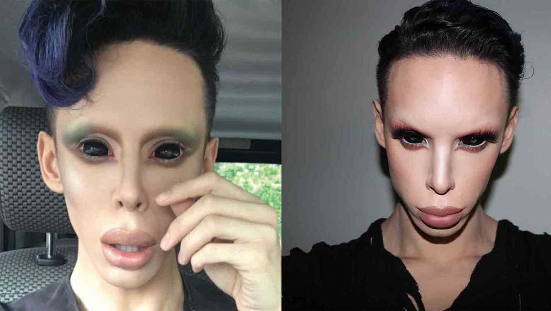 """Resultado de imagen para 8- Él gastó 50 mil dólares para convertirse un """"alien sin género""""."""