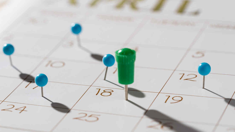 Calendario tax day del 18 de abril