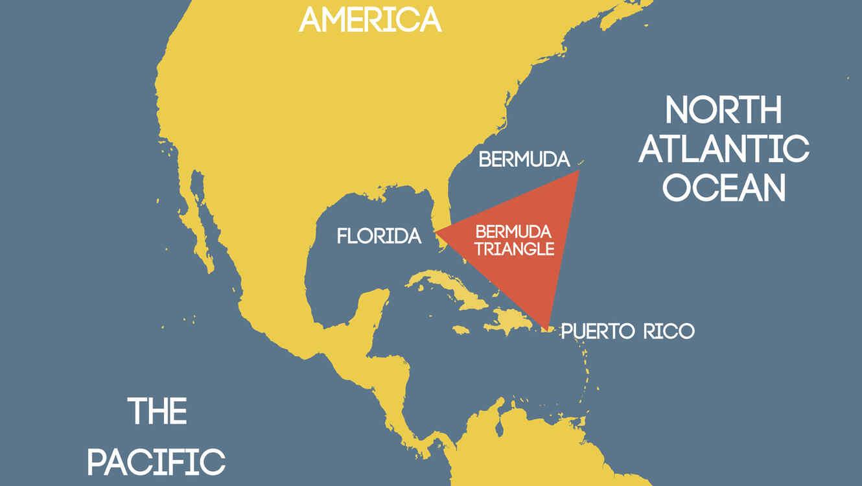 Mapa del Triángulo de las Bermudas