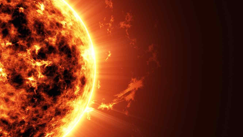 El sol en el espacio