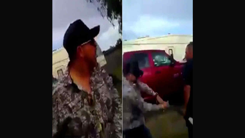 Presunto narcotraficante golpea sin piedad a hombre con un bate