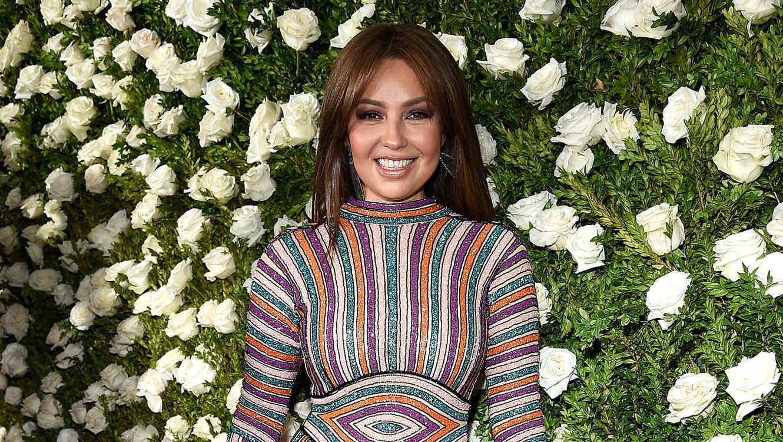 Thalía en la entrega de premios Tony 2017
