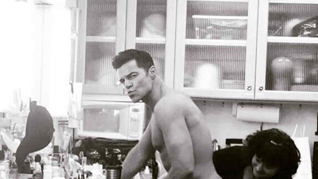 Ricky Martin on set of American Horror Story