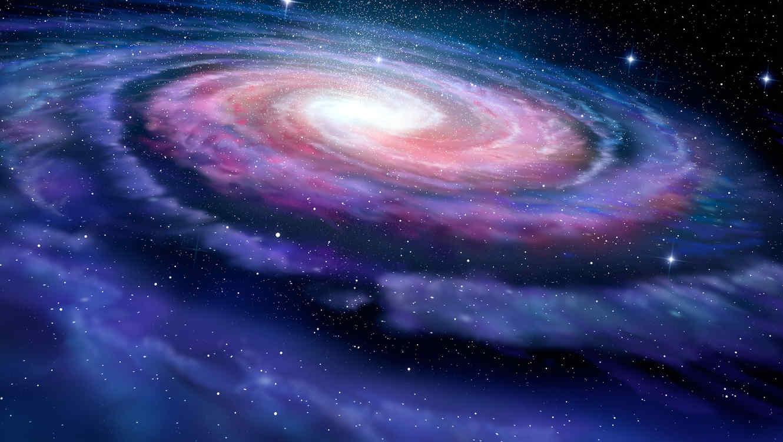 Galaxia espiralada en la Vía Láctea