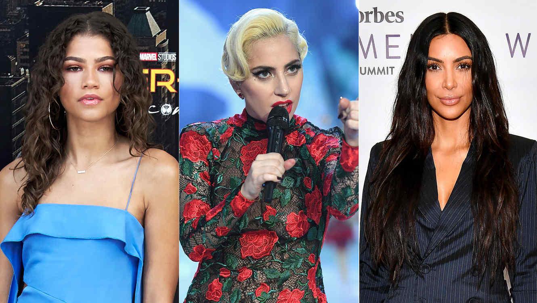 Zendaya, Lady Gaga, Kim Kardashian