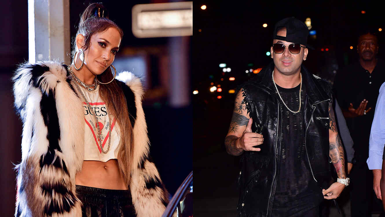 "Jennifer Lopez and Wisin Filming ""Amor Amor Amor"""