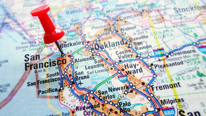 Mapa De Los Angeles Con Nombres.Desde San Francisco Hasta Florida Ciudades Y Estados Con
