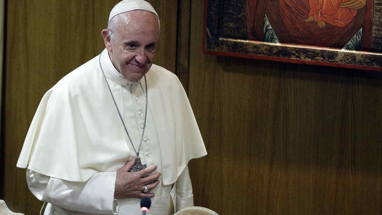 El papa Francisco en la Academia Pontificia para la Vida en el Vaticano el 5 de octubre del 2017.