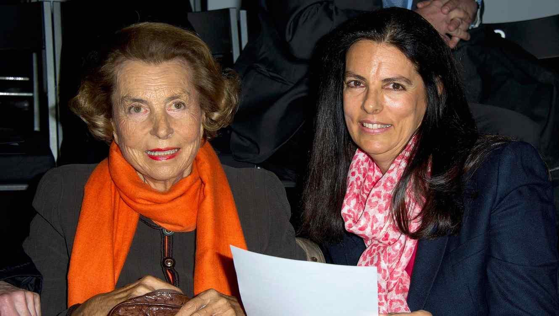 Liliane Bettencourt y Francoise Bettencourt Meyers