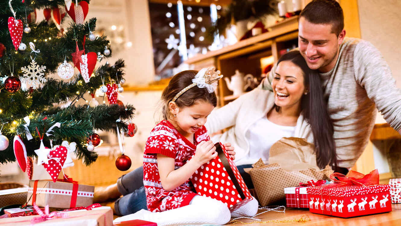 Familia reunida en Navidad