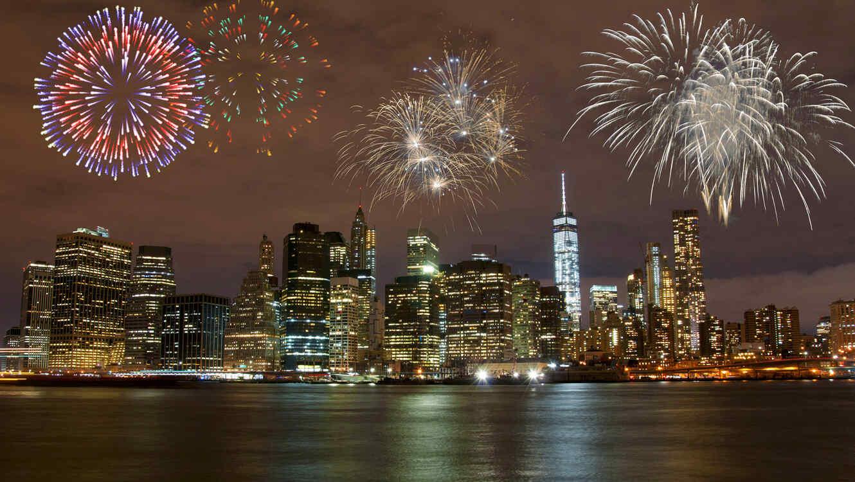 Fuegos artificiales en Nueva York