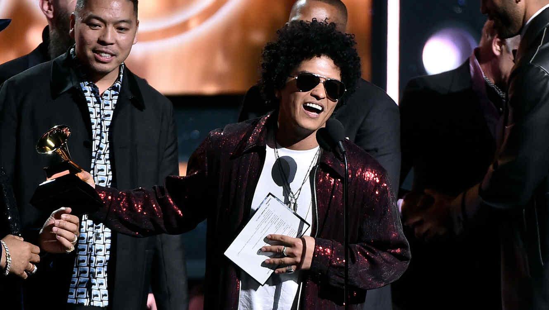 Bruno Mars en los Grammys 2018