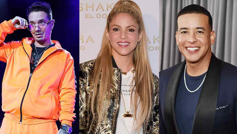 J Balvin, Shakira, Daddy Yankee