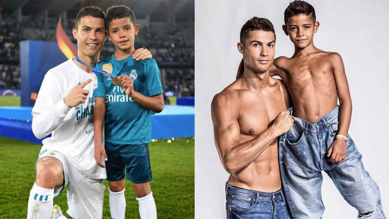 Cristiano Ronaldo and Cristiano Jr.