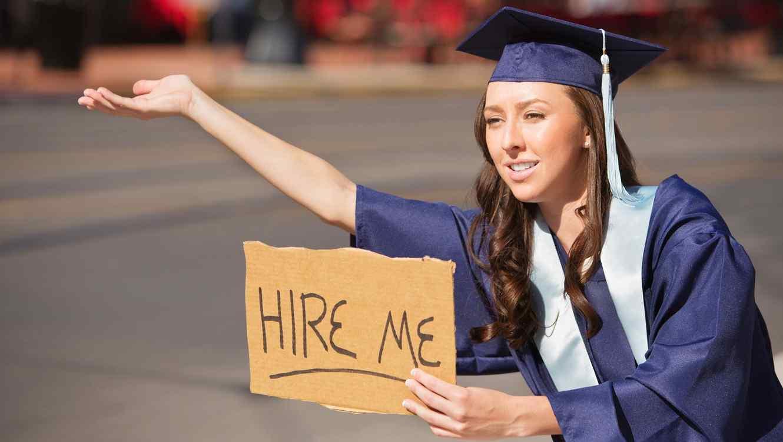 Estudiante buscando empleo