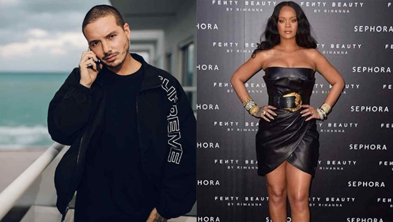 J Balvin and Rihanna