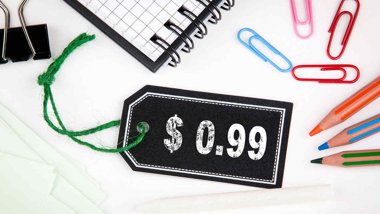 Etiqueta de precio: $0.99