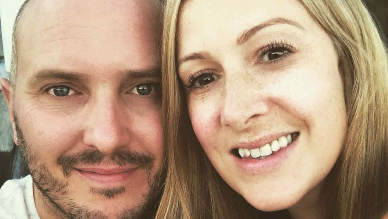 Rachael Bland con su esposo Steve