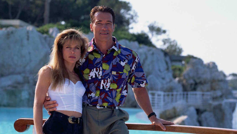 Linda Hamilton y Arnold Schwarzenegger en 1991
