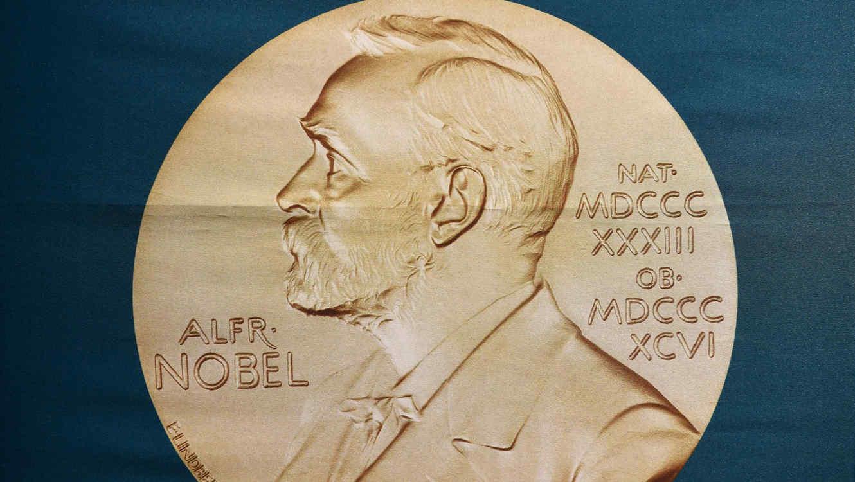 Medalla con la imagen de Alfred Nobel