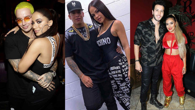 Parejas de reggaetón collage