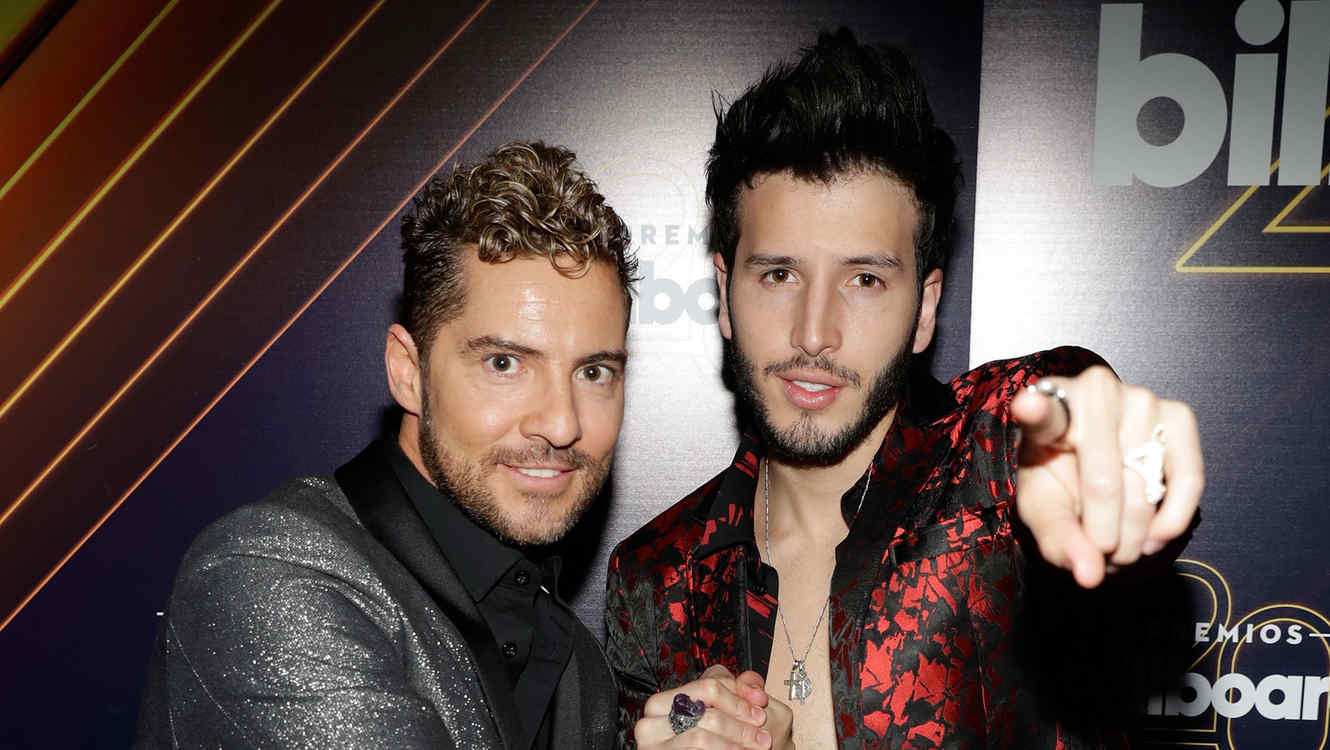 David Bisbal y Sebastián Yatra en Billboard Latin Music Awards 2018