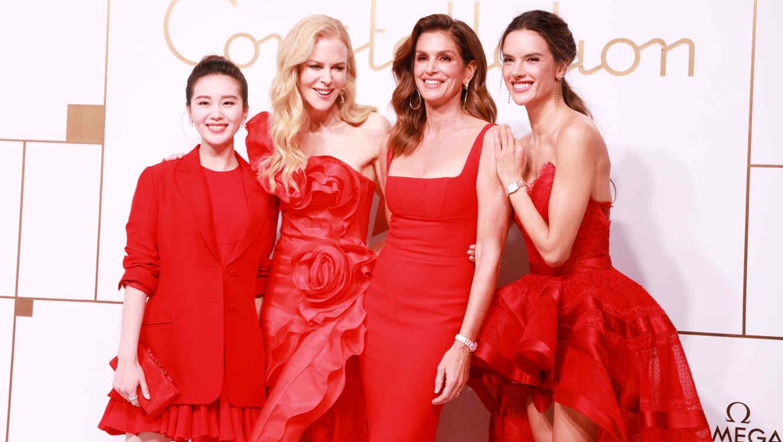 Liu Shishi, Nicole Kidman, Cindy Crawford y Alessandra Ambrosio