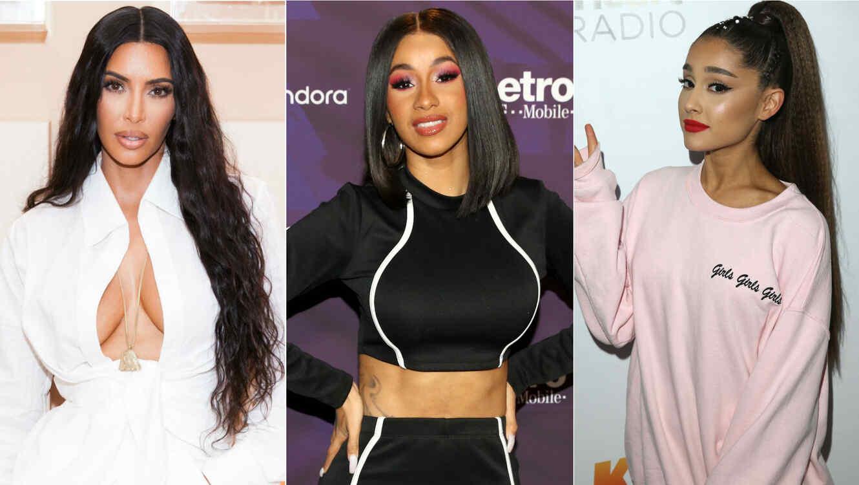 Kim Kardashian, Cardi B, Ariana Grande