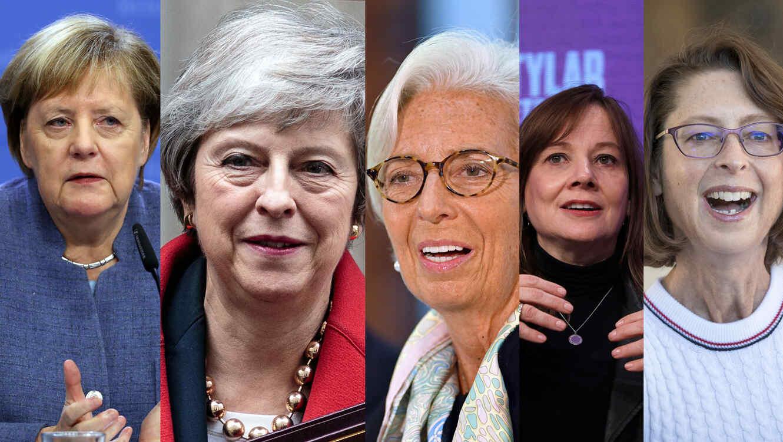 Angela Merkel, Theresa May, Christine Lagarde, Mary Barra, Abigail Johnson