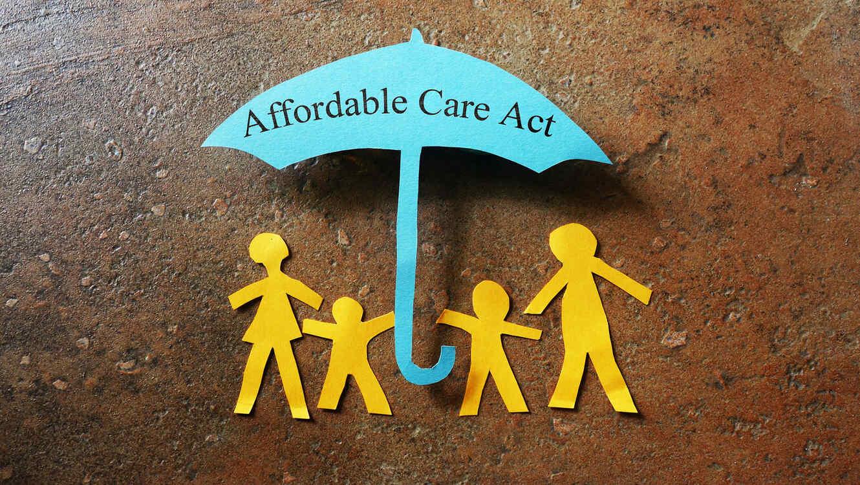 Concepto de seguro médico, bajo el Affordable Care Act