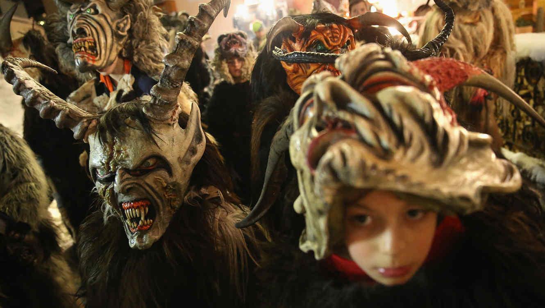 Festival callejero en homenaje a Krampus
