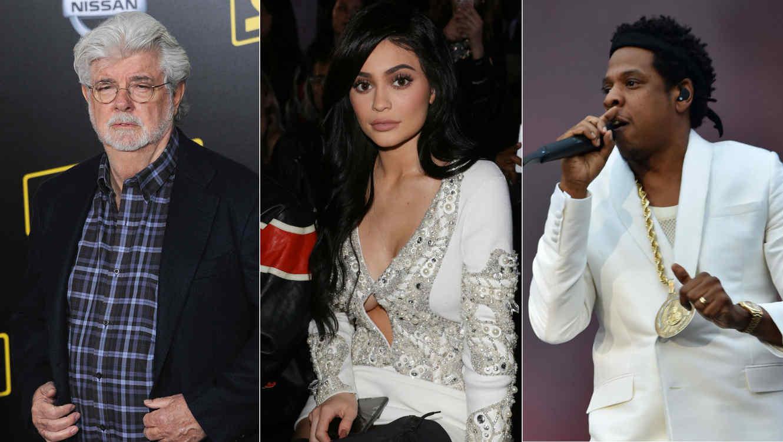 George Lucas, Kylie Jenner, Jay-Z