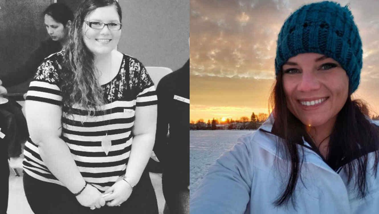 mujeres de gimnasio antes y despues de adelgazar