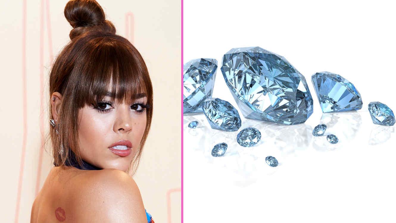 Danna Paola usa mascarilla de diamantes en la cara
