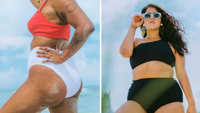 Mujeres plus size en bikini