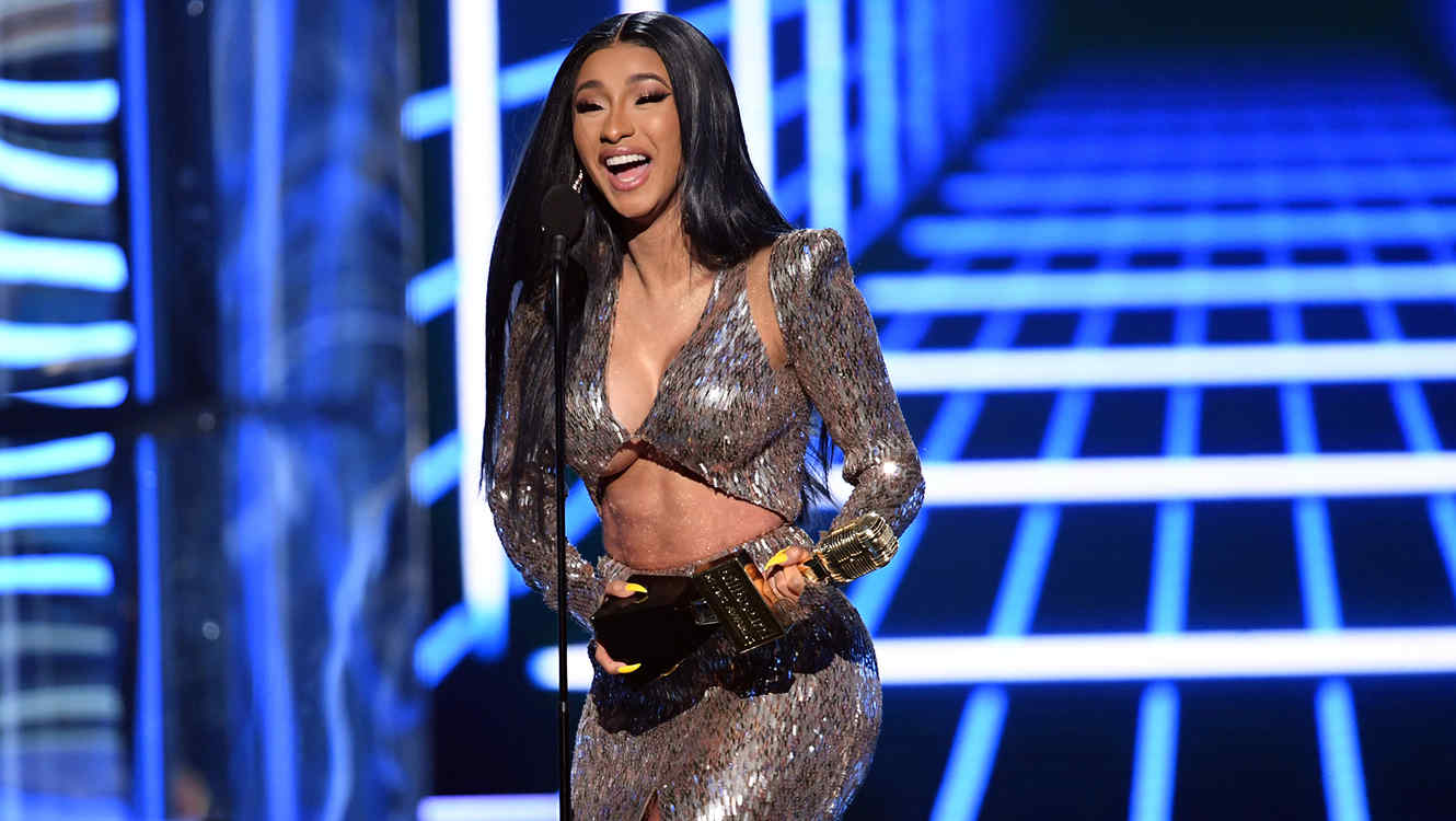 Cardi B accepts the Top Rap Song award for 'I Like It'
