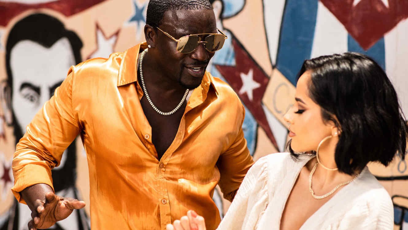 Akon and Becky G film music video in Miami