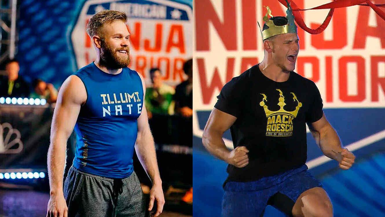 Nate Burkhalter y Mack Roesch en American Ninja Warrior