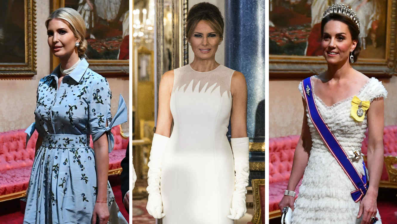 Ivanka Trump, Melania Trump y Kate Middleton